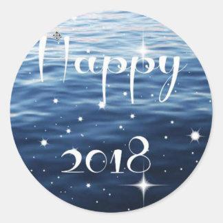 Happy 2018 classic round sticker