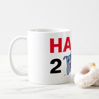 Happy 2018! New Year, Christmas Pitbull Coffee Mug