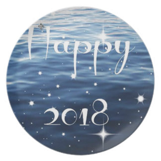 Happy 2018 plate