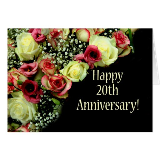 Happy th anniversary roses greeting card zazzle
