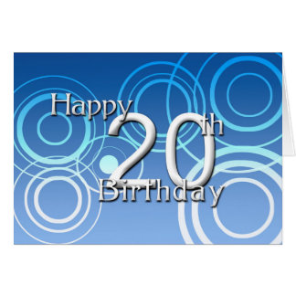Happy 20th Birthday ( birthday) Card