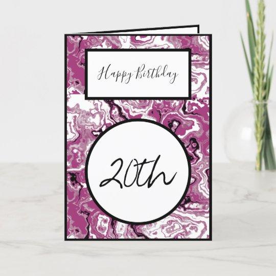 Happy 20th Birthday Card