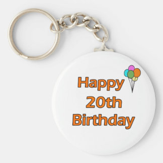 Happy 20th Birthday Keychains