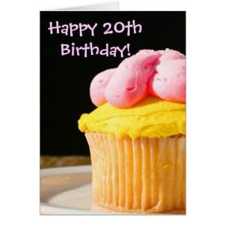 Happy 20th Birthday muffin Card