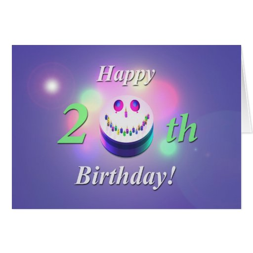 Happy Th Birthday Cards For Facebook Timeline Smiley Cake Zazzle