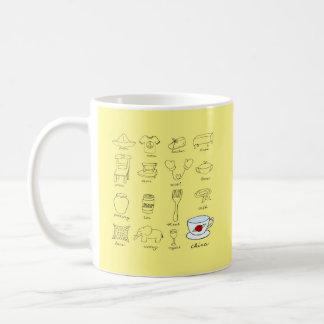 Happy 20th Wedding Anniversary Modern Illustration Classic White Coffee Mug