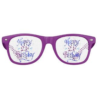 happy 21st birthday party sunglasses