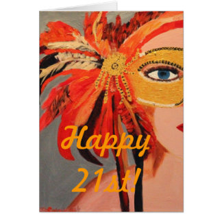 Happy 21st! card