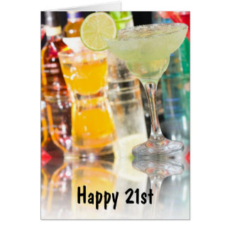 HAPPY 21st=PARTY ENJOY CELEBRATE Card