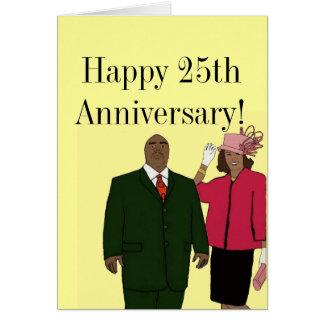 Happy 25th anniversary card