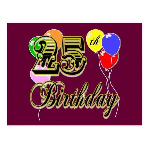 Happy 25th Birthday Merchandise Post Cards
