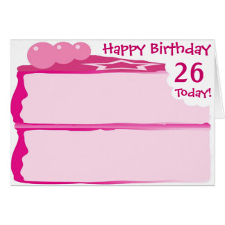 Happy 26th Birthday Card