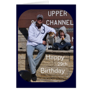 Happy 29th Birthday Photo Card by Janz