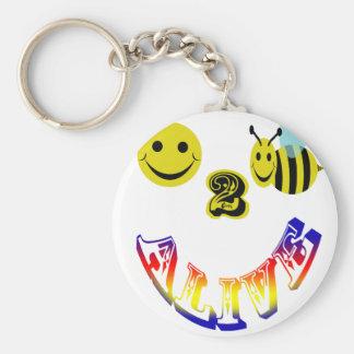 happy 2 bee alive keychains