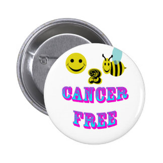 happy 2 bee cancer free 2 inch round button