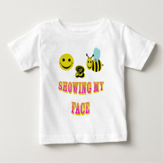 happy 2 bee showing my face baby T-Shirt