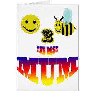 happy,2 bee the best mum card
