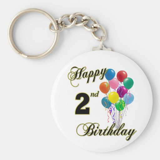 Happy 2nd Birthday Gifts and Birthday Apparel Key Chain