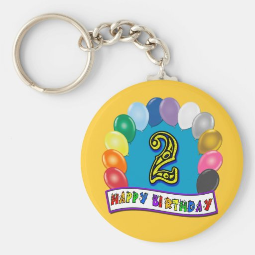 Happy 2nd Birthday Gifts and Birthday Apparel Key Chains