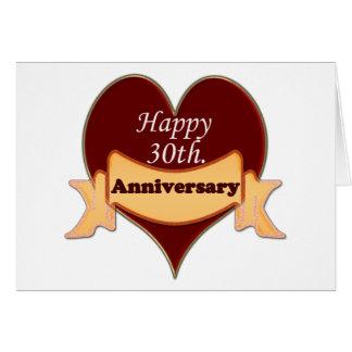 Happy 30th. Anniversary Card