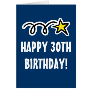 Happy 30th Birthday Card for men and women