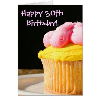 Happy 30th Birthday muffin Card