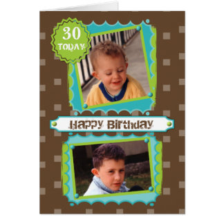 Happy 30th Birthday Photo Card
