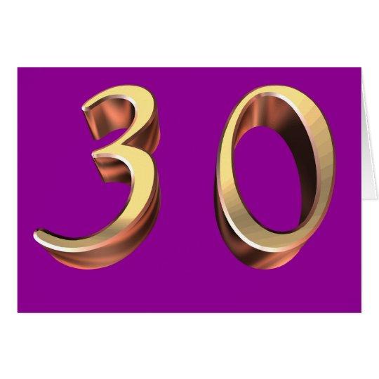 Happy 30th Birthday thirties thirrty 30 30th Card