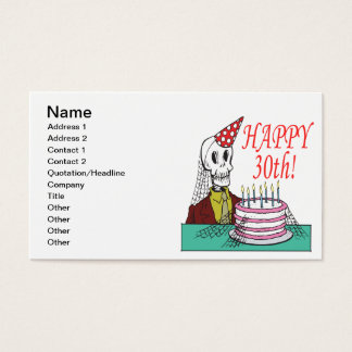 Happy 30th business card