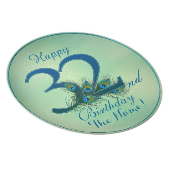 Happy 32nd Birthday - 100% personalized plates