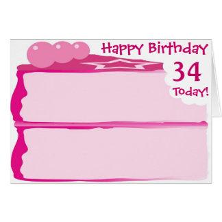 Happy 34th Birthday Card