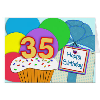 Happy 35th Birthday Card