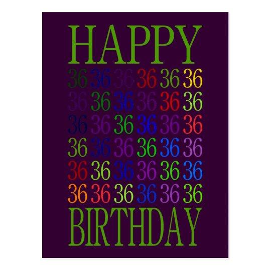 Happy 36th Birthday Postcard