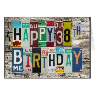 Happy 38th Birthday Card