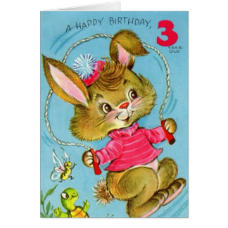 Happy 3rd Birthday Bunny Card