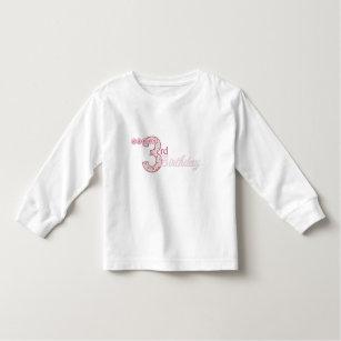 Happy 3rd Birthday Pink T Shirt