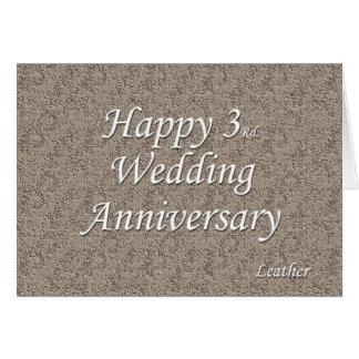 Happy 3rd. Wedding Anniversary Card