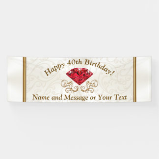 Happy 40th Birthday Banners PERSONALIZED