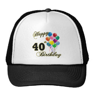 Happy 40th Birthday Gifts and Birthday Apparel Trucker Hat