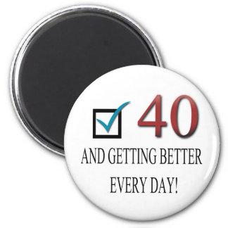 Happy 40th Birthday Refrigerator Magnets