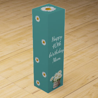Happy 40th Birthday Mom Wine Gift Box