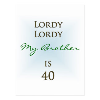 Happy 40th Birthday Postcard