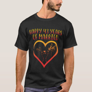 Happy 43rd Anniversary Shirt For Couple