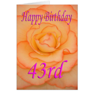 Happy 43rd Birthday Flower Card
