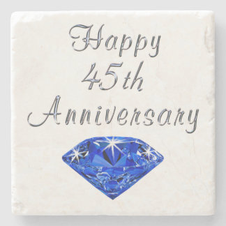 Happy 45th Anniversary Sapphire Coaster Stone Coaster