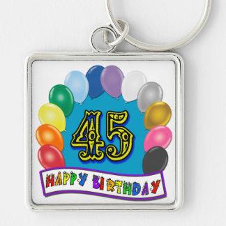 Happy 45th Birthday Balloon Arch Keychain