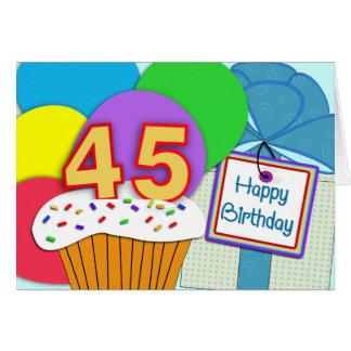 Happy 45th Birthday Card
