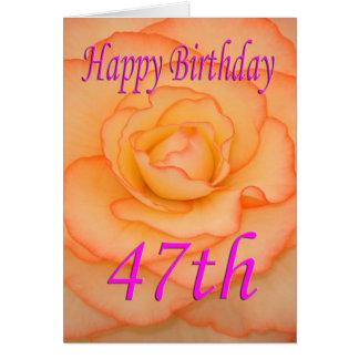 Happy 47th Birthday Flower Card