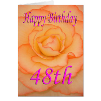 Happy 48th Birthday Flower Card