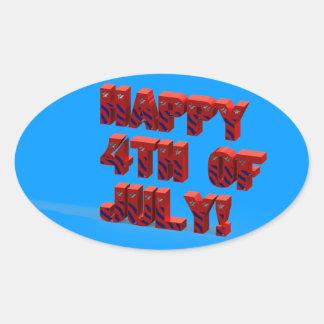 Happy 4TH Of July 3D Sticker